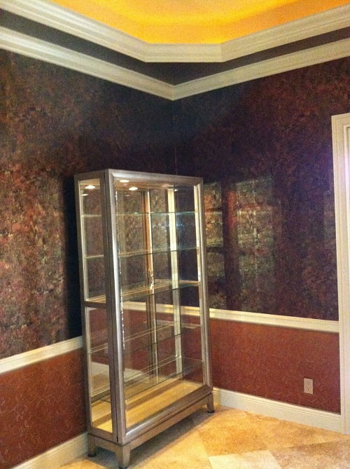 Dining room faux finished wallsArt-Faux Designs Inc Naples Fl 239 417 1888