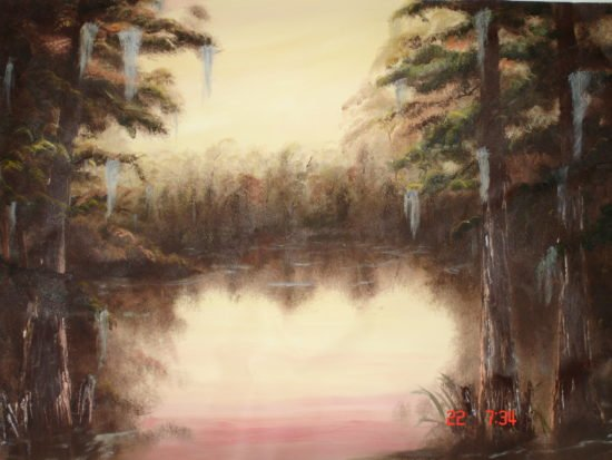 Oil on Canvas Florida Everglades by Arthur Morehead