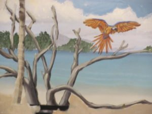 Beach Mural by Arthus Morehead Art-Faux Design Naples Fl