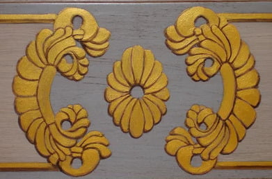 Hand Painted Ornamental Design by Arthur Morehead of Art-Faux Designs Naples Florida