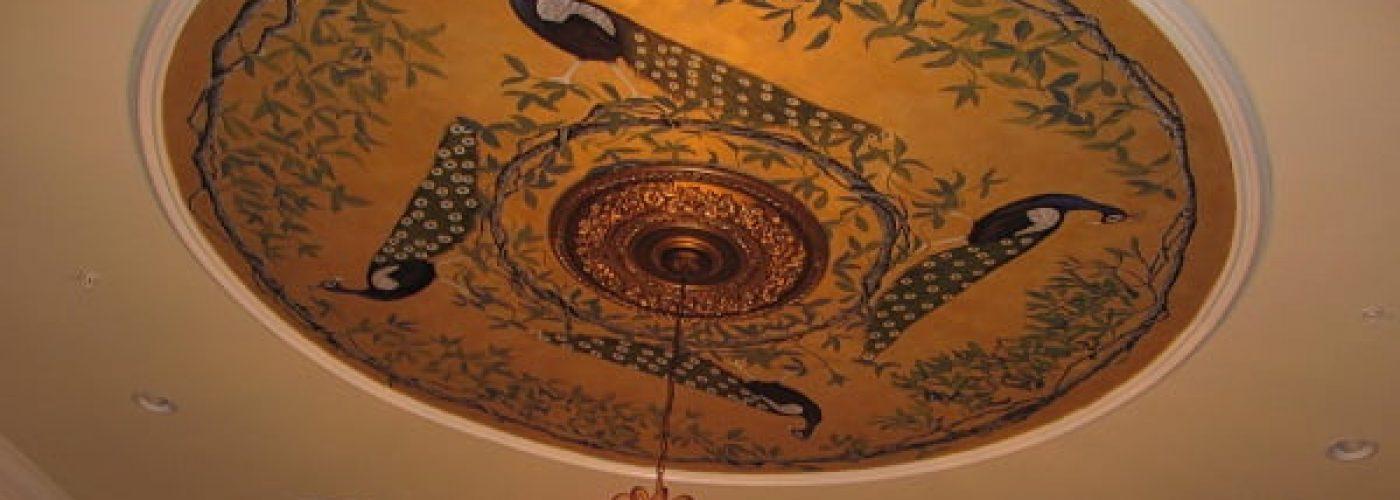 Peacock mural Progress